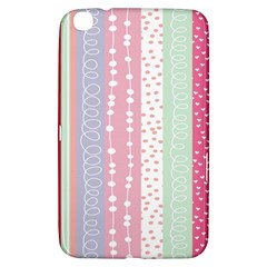 Heart Love Valentine Polka Dot Pink Blue Grey Purple Red Samsung Galaxy Tab 3 (8 ) T3100 Hardshell Case  by Mariart