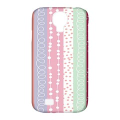 Heart Love Valentine Polka Dot Pink Blue Grey Purple Red Samsung Galaxy S4 Classic Hardshell Case (pc+silicone)
