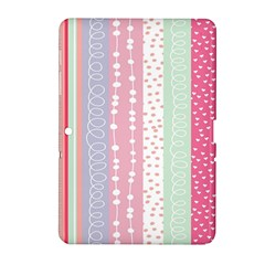 Heart Love Valentine Polka Dot Pink Blue Grey Purple Red Samsung Galaxy Tab 2 (10 1 ) P5100 Hardshell Case  by Mariart