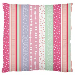 Heart Love Valentine Polka Dot Pink Blue Grey Purple Red Large Flano Cushion Case (one Side)