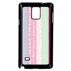 Heart Love Valentine Polka Dot Pink Blue Grey Purple Red Samsung Galaxy Note 4 Case (black) by Mariart