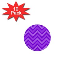 Zig Zags Pattern 1  Mini Buttons (10 Pack)  by Valentinaart