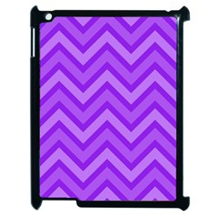 Zig Zags Pattern Apple Ipad 2 Case (black) by Valentinaart