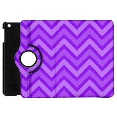 Zig Zags Pattern Apple Ipad Mini Flip 360 Case by Valentinaart