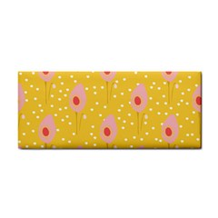Flower Floral Tulip Leaf Pink Yellow Polka Sot Spot Cosmetic Storage Cases by Mariart
