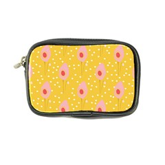 Flower Floral Tulip Leaf Pink Yellow Polka Sot Spot Coin Purse by Mariart
