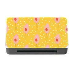 Flower Floral Tulip Leaf Pink Yellow Polka Sot Spot Memory Card Reader With Cf by Mariart