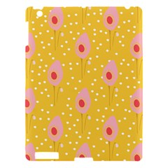 Flower Floral Tulip Leaf Pink Yellow Polka Sot Spot Apple Ipad 3/4 Hardshell Case by Mariart