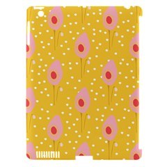 Flower Floral Tulip Leaf Pink Yellow Polka Sot Spot Apple Ipad 3/4 Hardshell Case (compatible With Smart Cover)