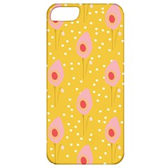 Flower Floral Tulip Leaf Pink Yellow Polka Sot Spot Apple Iphone 5 Classic Hardshell Case by Mariart