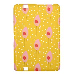 Flower Floral Tulip Leaf Pink Yellow Polka Sot Spot Kindle Fire Hd 8 9  by Mariart