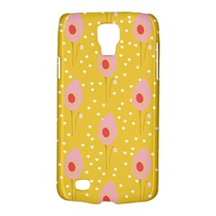 Flower Floral Tulip Leaf Pink Yellow Polka Sot Spot Galaxy S4 Active by Mariart