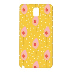 Flower Floral Tulip Leaf Pink Yellow Polka Sot Spot Samsung Galaxy Note 3 N9005 Hardshell Back Case