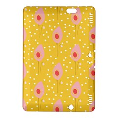 Flower Floral Tulip Leaf Pink Yellow Polka Sot Spot Kindle Fire Hdx 8 9  Hardshell Case by Mariart