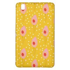 Flower Floral Tulip Leaf Pink Yellow Polka Sot Spot Samsung Galaxy Tab Pro 8 4 Hardshell Case