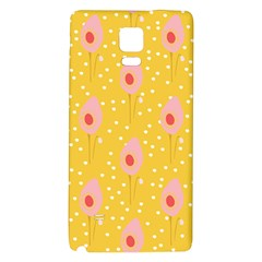 Flower Floral Tulip Leaf Pink Yellow Polka Sot Spot Galaxy Note 4 Back Case by Mariart