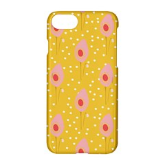 Flower Floral Tulip Leaf Pink Yellow Polka Sot Spot Apple Iphone 7 Hardshell Case by Mariart