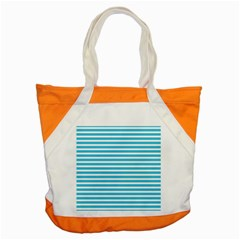 Horizontal Stripes Blue Accent Tote Bag by Mariart
