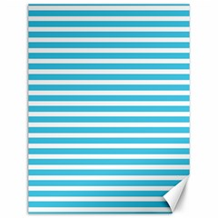 Horizontal Stripes Blue Canvas 12  X 16   by Mariart