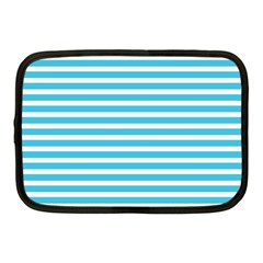 Horizontal Stripes Blue Netbook Case (medium)  by Mariart
