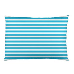Horizontal Stripes Blue Pillow Case by Mariart