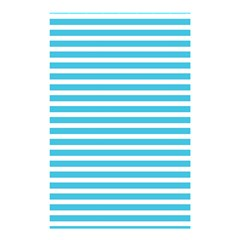 Horizontal Stripes Blue Shower Curtain 48  X 72  (small)  by Mariart
