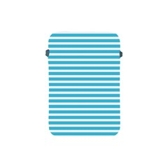 Horizontal Stripes Blue Apple Ipad Mini Protective Soft Cases by Mariart