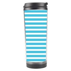 Horizontal Stripes Blue Travel Tumbler