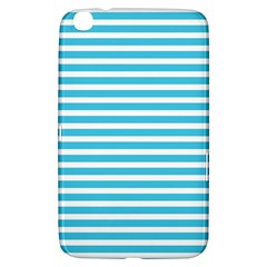 Horizontal Stripes Blue Samsung Galaxy Tab 3 (8 ) T3100 Hardshell Case  by Mariart