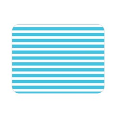 Horizontal Stripes Blue Double Sided Flano Blanket (mini)  by Mariart