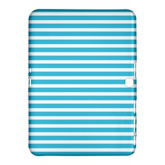 Horizontal Stripes Blue Samsung Galaxy Tab 4 (10 1 ) Hardshell Case  by Mariart