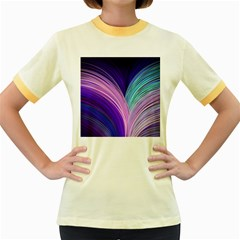 Color Purple Blue Pink Women s Fitted Ringer T Shirts by Mariart