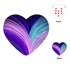 Color Purple Blue Pink Playing Cards (heart)  by Mariart