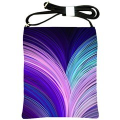 Color Purple Blue Pink Shoulder Sling Bags by Mariart