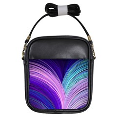 Color Purple Blue Pink Girls Sling Bags by Mariart