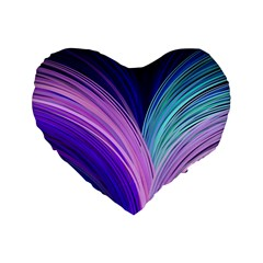 Color Purple Blue Pink Standard 16  Premium Heart Shape Cushions by Mariart