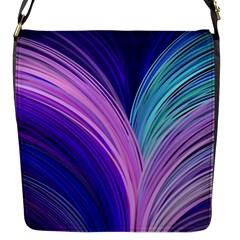 Color Purple Blue Pink Flap Messenger Bag (s) by Mariart