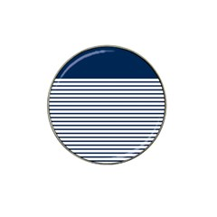 Horizontal Stripes Blue White Line Hat Clip Ball Marker (4 Pack) by Mariart