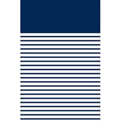 Horizontal Stripes Blue White Line 5 5  X 8 5  Notebooks