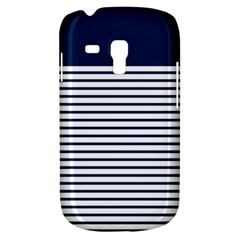 Horizontal Stripes Blue White Line Galaxy S3 Mini by Mariart
