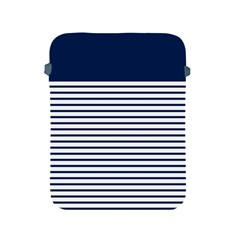 Horizontal Stripes Blue White Line Apple Ipad 2/3/4 Protective Soft Cases by Mariart