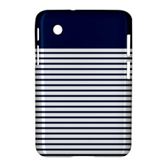 Horizontal Stripes Blue White Line Samsung Galaxy Tab 2 (7 ) P3100 Hardshell Case  by Mariart