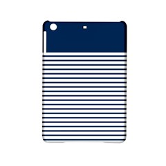 Horizontal Stripes Blue White Line Ipad Mini 2 Hardshell Cases by Mariart