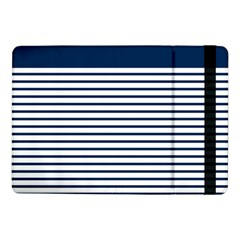 Horizontal Stripes Blue White Line Samsung Galaxy Tab Pro 10 1  Flip Case by Mariart