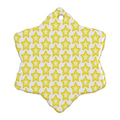Yellow Orange Star Space Light Ornament (snowflake) by Mariart