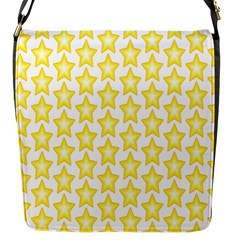 Yellow Orange Star Space Light Flap Messenger Bag (s) by Mariart
