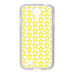 Yellow Orange Star Space Light Samsung Galaxy S4 I9500/ I9505 Case (white)