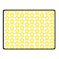 Yellow Orange Star Space Light Double Sided Fleece Blanket (small)  by Mariart
