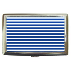 Horizontal Stripes Dark Blue Cigarette Money Cases by Mariart
