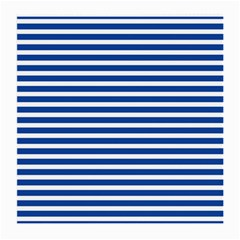 Horizontal Stripes Dark Blue Medium Glasses Cloth (2 Side) by Mariart